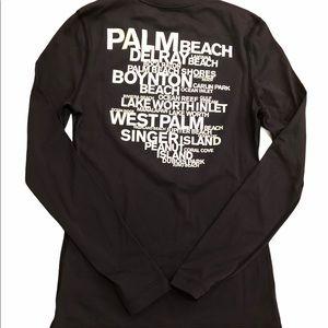 James Perse Long Sleeve Navy Swim Shirt